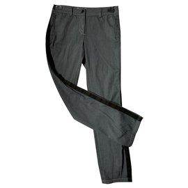 Chanel-Jean Chanel bandes noires-Gris