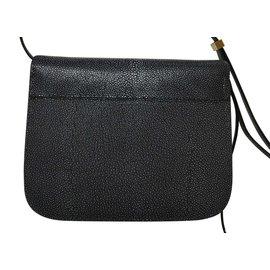 Céline-Rare! Stingray 24cm avec des étiquettes, Sac Box Classique-Noir,Gris