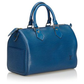 Louis Vuitton-Epi Speedy 25-Bleu