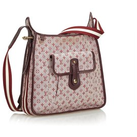 Louis Vuitton-Monogramme Mini Lin Mary Kate-Rose,Rouge,Autre