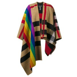 Burberry-BURBERRY, Rainbow Vintage Check poncho new without tag-Other