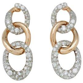 """Pomellato-Boucles d'oreilles Pomellato """"Tango"""", en or rose et diamants.-Autre"""