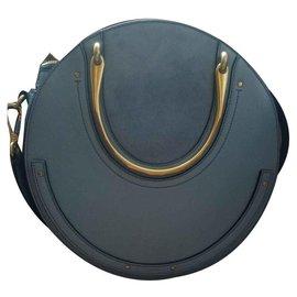 Chloé-Grand sac double poignée pixie-Bleu clair