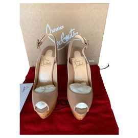 Christian Louboutin-a feather-Beige