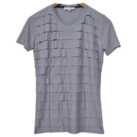 Céline-Céline Grey Vicose & Cashmere Top T-Shirt Size S SMALL-Grey