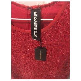 Zadig & Voltaire-Robe sequins Zadig et Voltaire Deluxe-Rouge