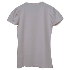 Céline-Céline Powder Pink Top T-Shirt Size S SMALL-Pink