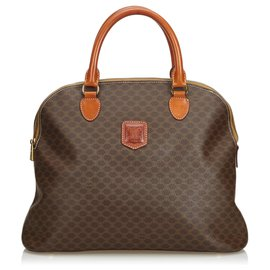 Céline-Macadam Handbag-Brown