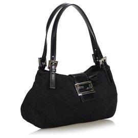 Fendi-Nylon Shoulder Bag-Black