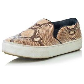 Céline-Sneaker à enfiler en python-Multicolore