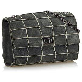 Chanel-Reissue Patchwork Flap Bag-Green,Dark green