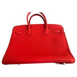 Hermès-HERMES BIRKIN 30 cm-Red