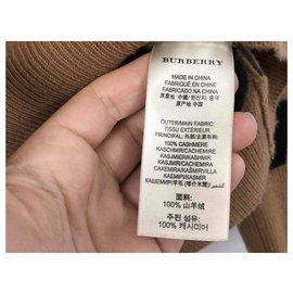 Burberry-Magnifique pull Burberry taille XL comme neuf 100% cachemire comme neuf-Caramel
