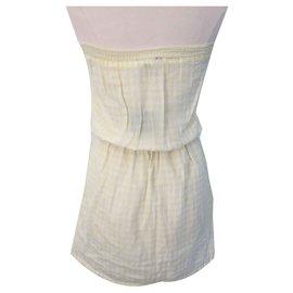 Bel Air-Robe bustier neuve-Blanc,Jaune
