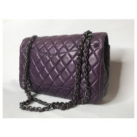 Chanel-Limited lined Flap Medium Bag-Other,Purple,Prune,Lavender
