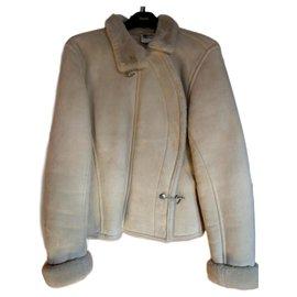 Hermès-Shearling jacket-Eggshell