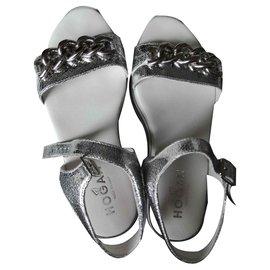 Hogan-Sandals-Silvery