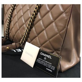 Chanel-Chanel Taupe shoulder tote-Beige