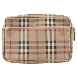 Burberry-Burberry Vintage Clutch Bag-Brown
