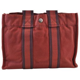 Hermès-Hermès cabas-Rouge