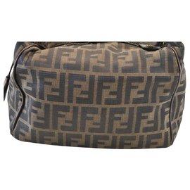 Fendi-Fendi Zucca Hand Bag-Brown