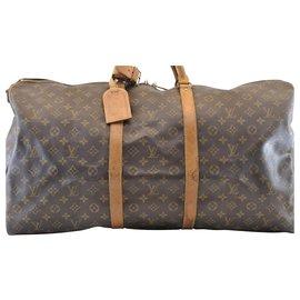 Louis Vuitton-Louis Vuitton Keepall Bandouliere 60-Marron
