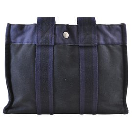Hermès-Hermès cabas-Bleu