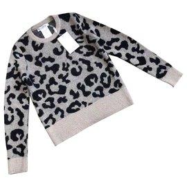 Max Mara-Max Mara pull en laine mélangée léopard-Multicolore