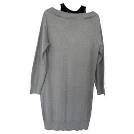 T By Alexander Wang-robe coton gris T alexander wang-Gris