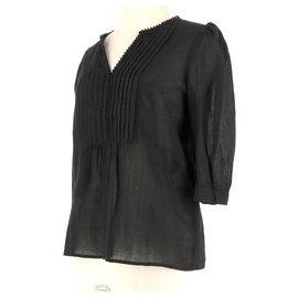 See by Chloé-Wrap blouse-Black
