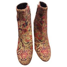 Saint Laurent-Boots Loulou-Beige