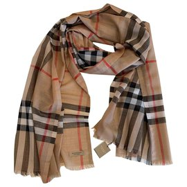 Burberry-STOLE BURBERRY-Light brown