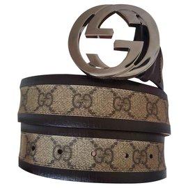 Gucci-Belts-Beige
