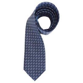 Salvatore Ferragamo-Cravate en soie Salvatore Ferragamo - Nouveau-Bleu
