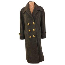 Chanel-Manteaux, Vêtements d'extérieur-Marron