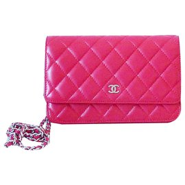 Chanel-Chanel Wallet on Chain-Rouge