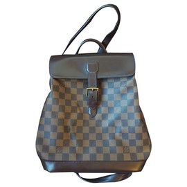 Louis Vuitton-Louis Vuitton backpack soho checkered ebony-Ebony