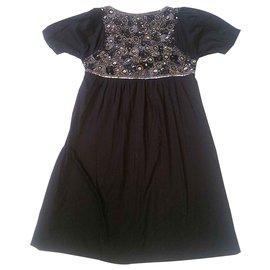 Antik Batik-Kleider-Schwarz