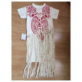 Loewe-Totem de frange-Blanc,Rouge