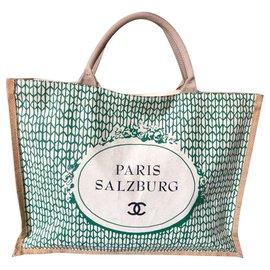 Chanel-Sacs à main-Noir,Vert,Écru
