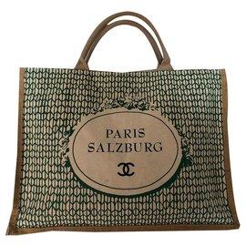 Chanel-Handbags-Black,Green,Cream