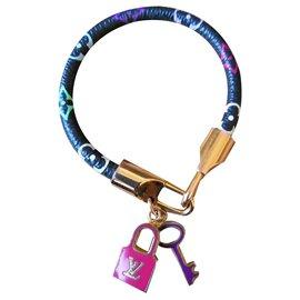 Louis Vuitton-Bracelet monogramme vuitton murakami-Noir,Rose,Bleu,Doré