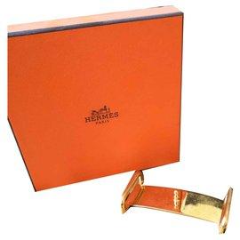Hermès-Boucle de ceinture Hermès-Doré