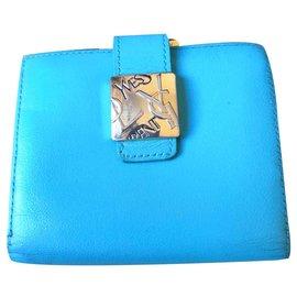 Yves Saint Laurent-Beau portefeuille Yves Saint Laurent-Bleu,Turquoise