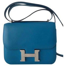 Hermès-SAC CONSTANCE HERMES III-Bleu