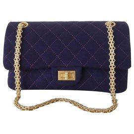 Chanel-Chanel bag 2.55 purple-Purple