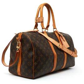 Louis Vuitton-keepall 45 MONOGRAM STRAP-Brown