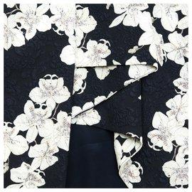 Erdem-BLACK WHITE FLOWERS FR38-Noir,Écru