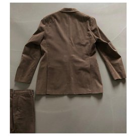 Massimo Dutti-Brown suit Massimo Dutti Jacket 52/42 Trousers 44-Brown