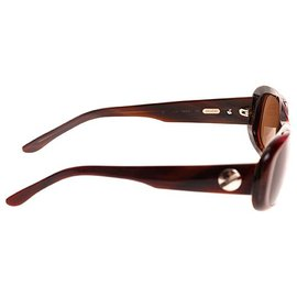 Cartier-Cartier Red Bordeaux Rectangular Enamel Sunglasses-Red,Other
